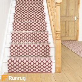 Quirky Dotty Pink 7025 Stair Runner