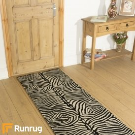 Quirky Skinny Black 7060 Hall Runner
