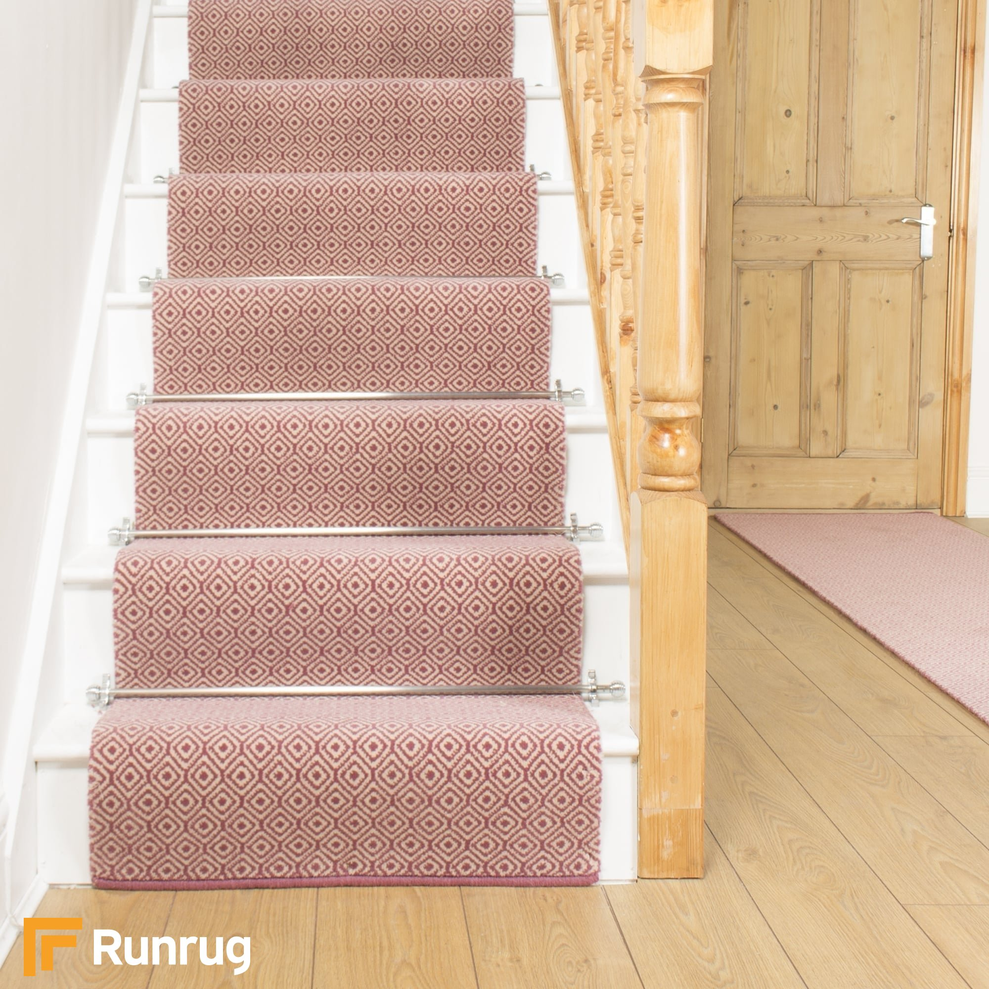 Quirky tess pink 7005 stair runner for Cheap flooring alternatives to carpet