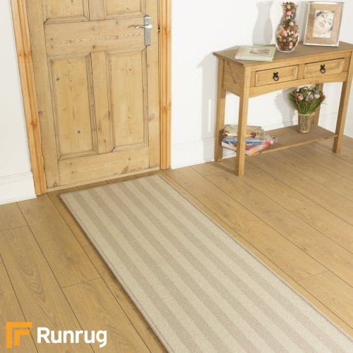 Alternative Flooring Wool Blocstripe Canvas Olive 1855 Hall Runner