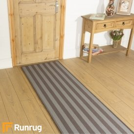 Wool Blocstripe Mineral Sable 1854 Hall Runner