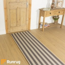 Wool Blocstripe Sable Olive 1850 Hall Runner