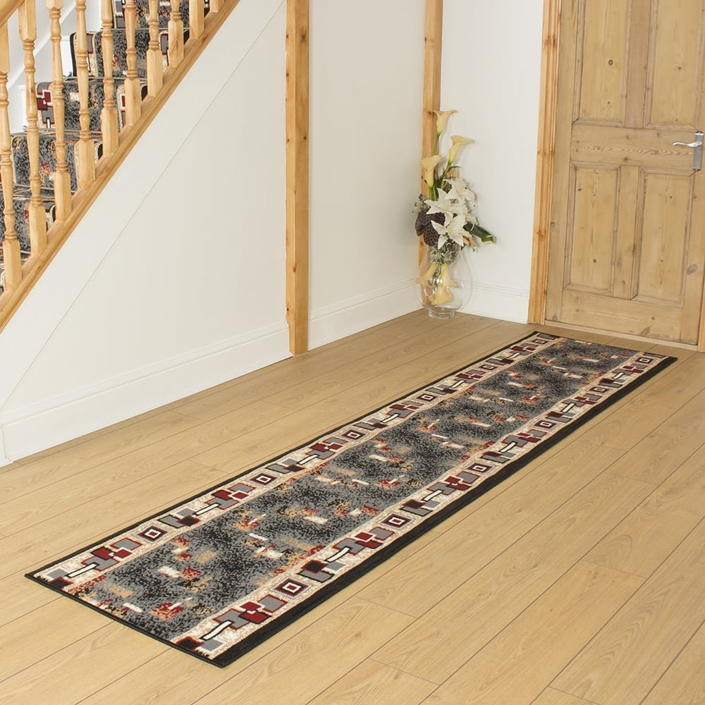 Black Hallway Carpet Runner Amuse