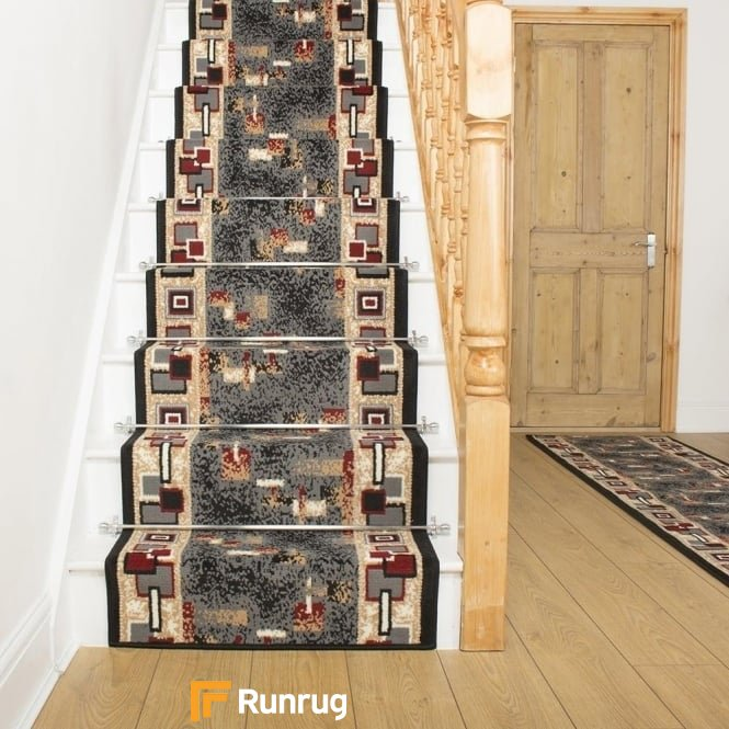 Amuse Black Stair Runner