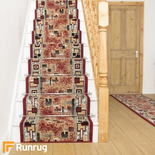 Amuse Red Stair Runner