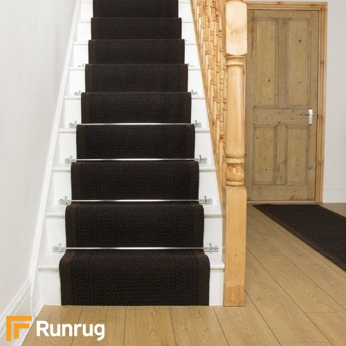 Aztec Dark Brown Stair Runner