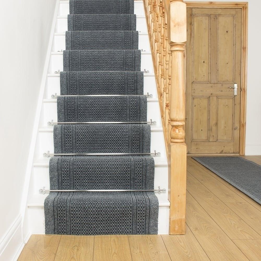 Aztec Grey Stair Runner