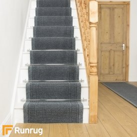 Aztec Grey Stair Runner