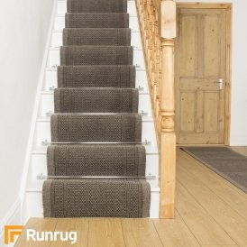 Aztec Light Brown Stair Runner