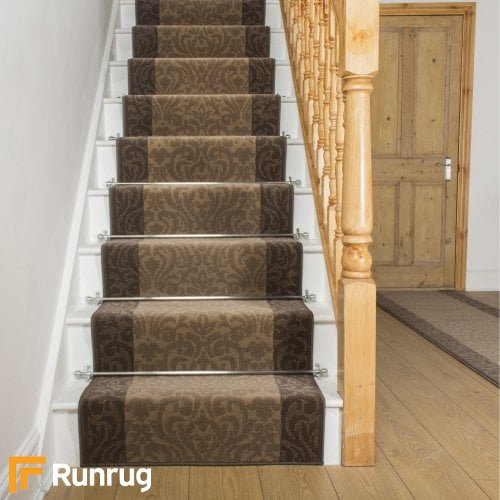 Baroque Choco Taupe Stair Runner