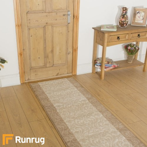 Baroque Taupe Ivory Hall Runner