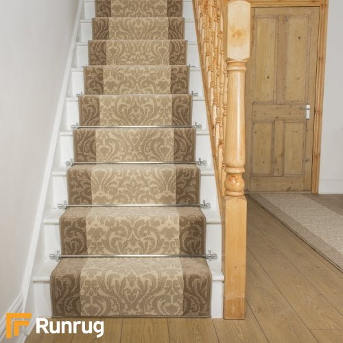 Baroque Taupe Ivory Stair Runner