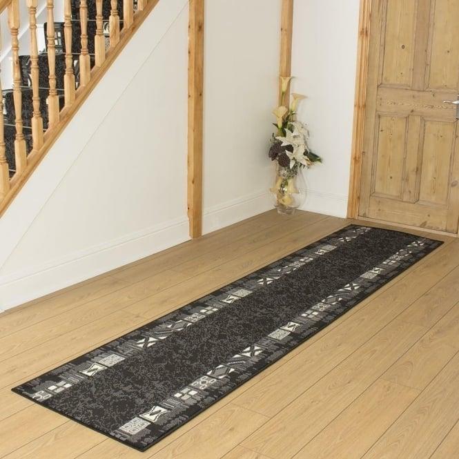 Black hallway carpet runner block - Black carpet runners for hall ...