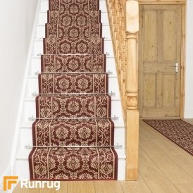 Bloom Red Stair Runner