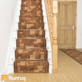 Bora Brown Stair Runner
