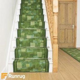 Bora Green Stair Runner