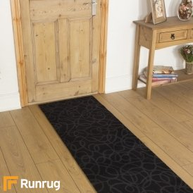 Brink & Campman 80/20 Wool Hallway Runner - Items Black 12604