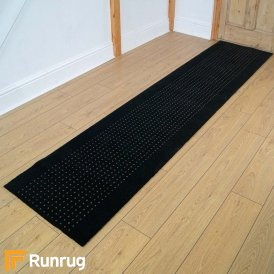 Brink & Campman 80/20 Wool Hallway Runner - Steps Grey 12005
