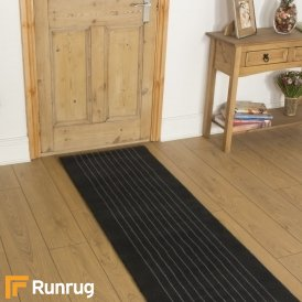 Brink & Campman 80/20 Wool Hallway Runner - Steps Grey 12105