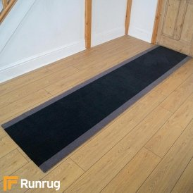 Brink & Campman 80/20 Wool Hallway Runner - Steps Grey 12205