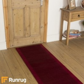 Brink & Campman 80/20 Wool Hallway Runner - Steps Red 12200