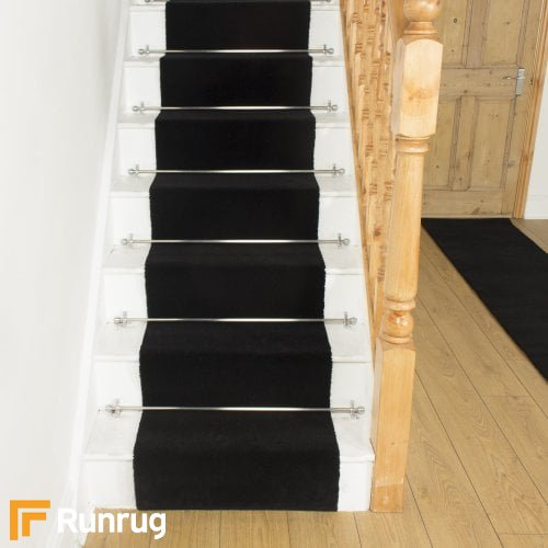 Brink & Campman 80/20 Wool Stair Runner - Basics Black 11005