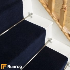 Brink & Campman 80/20 Wool Stair Runner - Basics Blue 11008