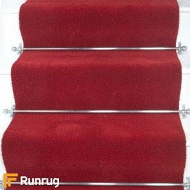 Brink & Campman 80/20 Wool Stair Runner - Basics Red 11000