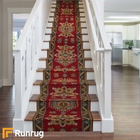 Brink & Campman 80/20 Wool Stair Runner - Emir Red 10521