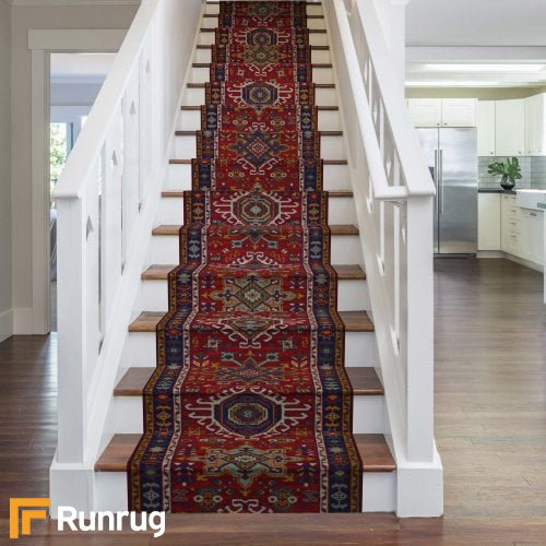 Brink & Campman 80/20 Wool Stair Runner - Emir Red 10622