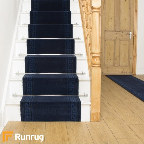 Brink & Campman 80/20 Wool Stair Runner - Hellas Blue 10803