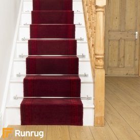 Brink & Campman 80/20 Wool Stair Runner - Hellas Red 10801