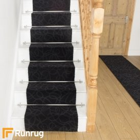 Brink & Campman 80/20 Wool Stair Runner - Items Black 12604