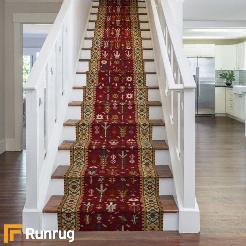 Brink & Campman 80/20 Wool Stair Runner - Kashmir Red 76744