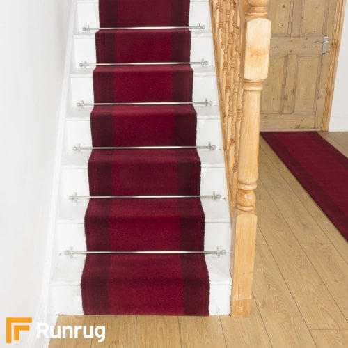 Brink & Campman 80/20 Wool Stair Runner - New Classics Red 10300