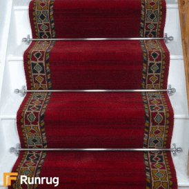 Brink & Campman 80/20 Wool Stair Runner - Qashqai Red 61001