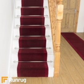 Brink & Campman 80/20 Wool Stair Runner - Steps Red 12200