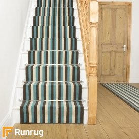 Broad 1 Brown, Blue & Cream Stair Runner