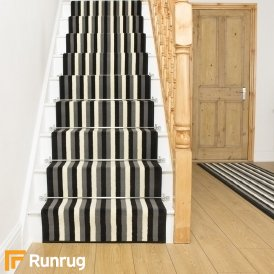 Broad 10 Black, Grey & Cream Stair Runner