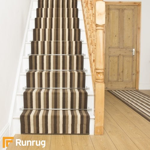 Broad 2 Brown & Cream Stair Runner