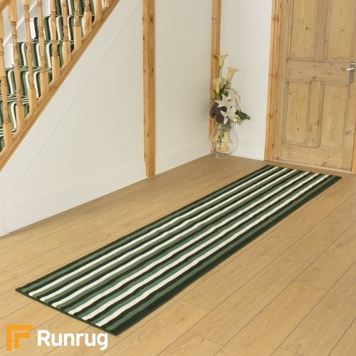Broad 3 Green & Cream Hall Runner