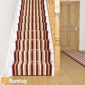 Broad 5 Red, Beige & Cream Stair Runner