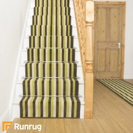 Broad 6 Green, Brown & Cream Stair Runner