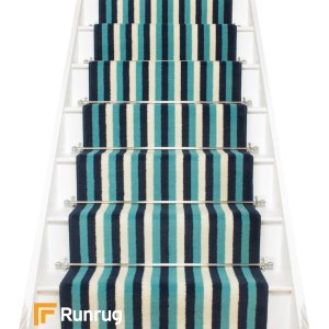 Broad 7 Blue & Cream Stair Runner