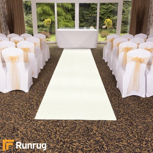 Eliza Glitter - Bianco Wedding Aisle Carpet Runner