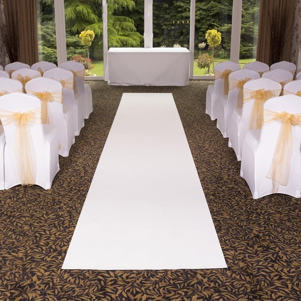 White Carpet Aisle Runner Vidalondon