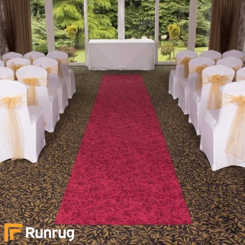Rose - Red Wedding Aisle Carpet Runner