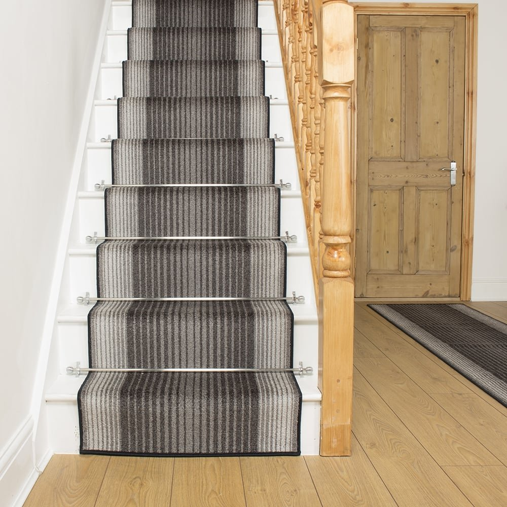 Graphite Stair Runner Rug Capitol