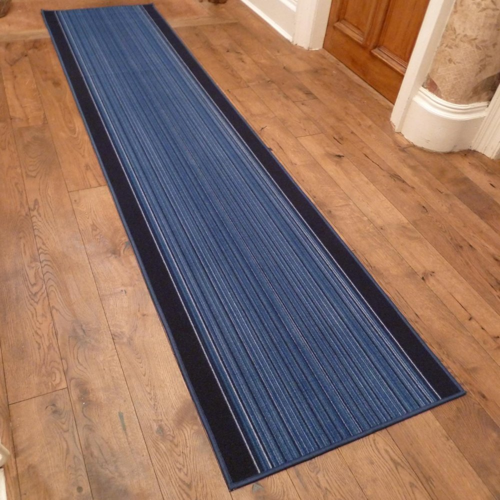 Blue Hall Runner Rug Carnaby Carpet Runners Uk