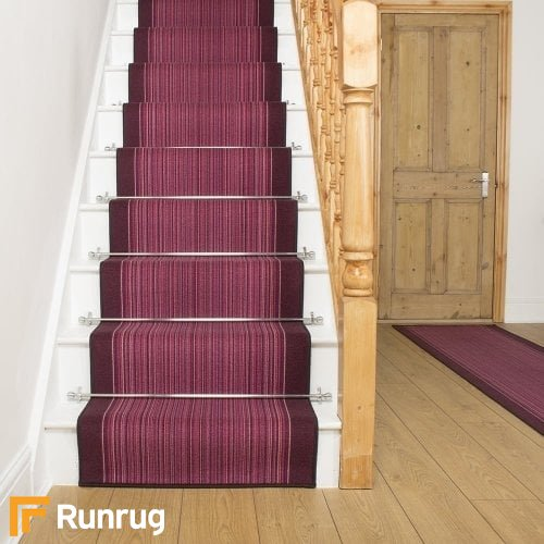 Carnaby Purple Stair Runner